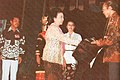 Wife of Ali Moertopo giving Citra to G Dwipayana, Festival Film Indonesia (1982), 1983, p68.jpg