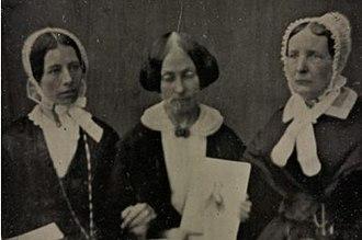 Mary Estlin - Eliza Wigham and Jane Wigham with Estlin between them