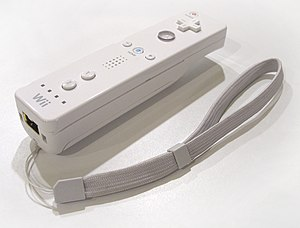 Input device - Wii Remote with attached strap