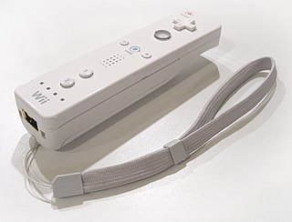 Wii Remote controller for the Wii video game console