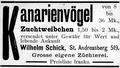 Wilhelm Schick, Kanarienzüchterei.png