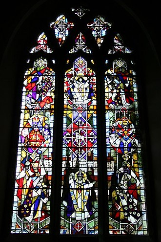 St John the Baptist, Penshurst - Wilhelmus window, commemorating Penshurst's first priest, who was installed in 1170 by Archbishop Thomas Becket