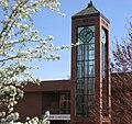 Willamette University Hatfield Library clock tower.JPG