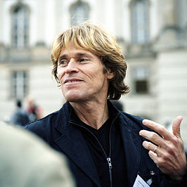 Willem Dafoe tijdens Table of Free Voices in Berlijn (2006).