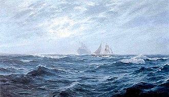William Ayerst Ingram - Image: William Ayerst Ingram Sailing Ship At Sea