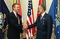 William Cohen welcomes Yusuf bin Alawi bin Abdullah, 2000.jpg