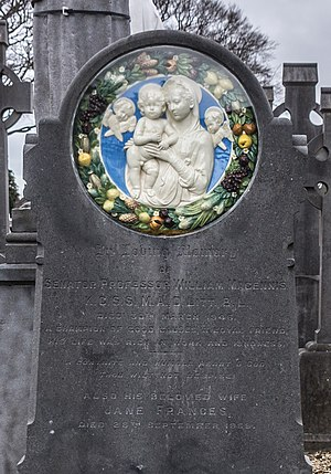 William Magennis - Magennis's gravestone in Dublin