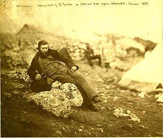 William Simpson (artist) - Cathecart Hill before Sebastapol. Crimea. 1855.