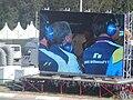 Williams team principals on big screen at the 2003 Hungarian Grand Prix.jpg