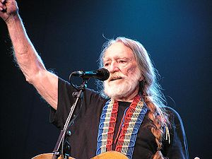 Willie Nelson performing at Cardiff, UK