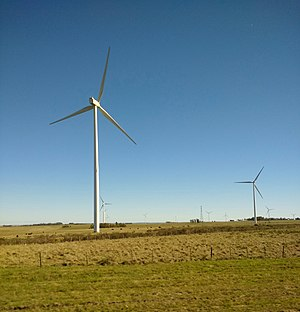 Environmental issues in Uruguay - Wind turbines in Tacuarembó Department