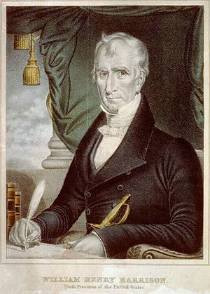 William Henry Harrison - Chromolithograph campaign poster for William Henry Harrison