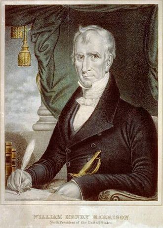 William Henry Harrison - Chromolithograph print of William Henry Harrison