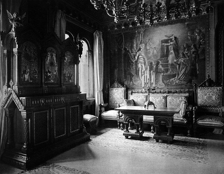Datei:Wohnzimmer Ludwigs II. Von Bayern, Schloss Neuschwanstein.jpg