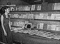 Woman with books on Islam, Tambahan dan Pembetulan Pekan Buku Indonesia 1954, p71.jpg
