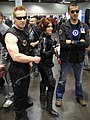 WonderCon 2012 - Hawkeye, Black Widow, and Tony Stark (6873503284).jpg