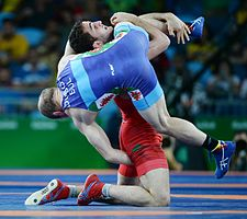 Wrestling at the 2016 Summer Olympics, Aliyev vs Dubov 10.jpg