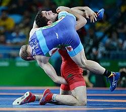 Wrestling at the 2016 Summer Olympics, Aliyev vs Dubov 10.jpg