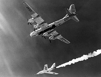 Bell X-2 - X-2 just after being dropped