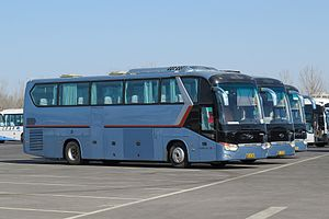 King Long - Two XMQ6129Ys in the parking lot of Beijing Capital International Airport