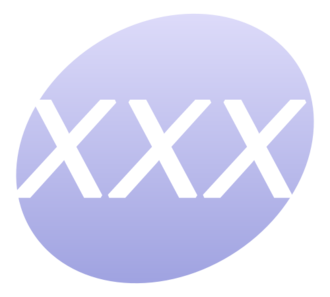 """XXX"" is often used to designate pornographic material. XXX P icon.png"