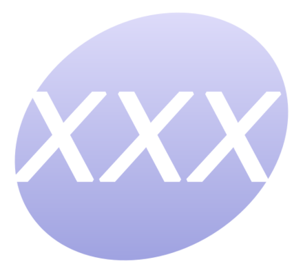 """XXX"" is often used to designate pornographic material."