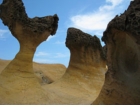Rock formations at Yeliu in Wanli