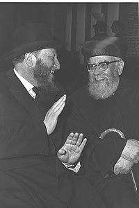 הרב ז'ולטי בחברת הרב הראשי הספרדי יצחק ניסים, 1964