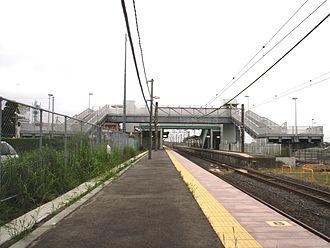 Yōkaichiba Station - View of the platforms. May 2009