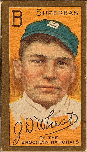 Zack Wheat - Zack Wheat baseball card, 1911 Gold Borders (T205)