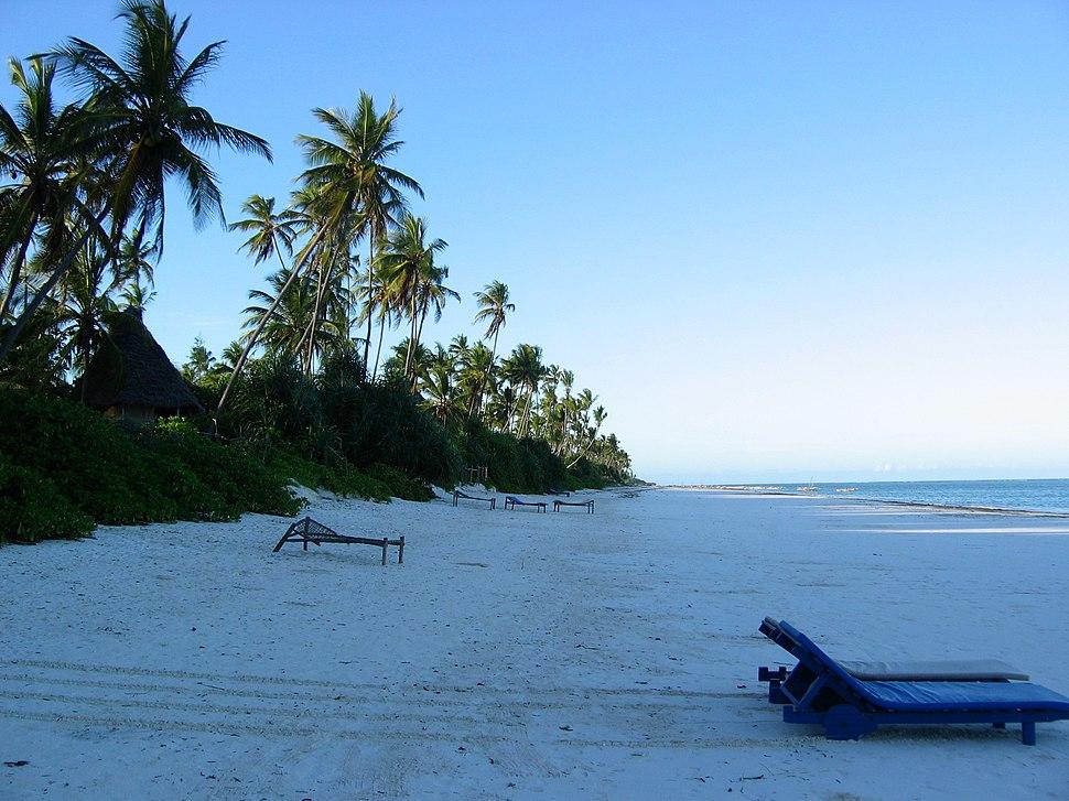 Zanzibar east coast pristine beach