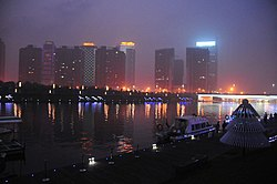 Zhengzhou east district at night.jpg