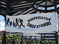 """""""Ongi Etorri Errefuxiatuak"""" - Basque pro-refugees sign in Irun, Basque Country, Spain.jpg"""