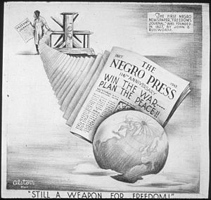 African-American newspapers - 116th Anniversary of the Negro Press, by artist Charles Henry Alston, 1907-1977