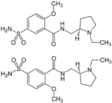 (±)-Sulpiride Enantiomers Structural Formulae.png