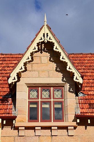 Greycliffe House - One of the decorative gables