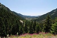 Η Αλωνίσταινα στο Μαίναλο - Mount Maenalon and Alonistena village.JPG