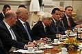Ο ΥΠΕΞ Ν.Δένδιας στις διευρυμένες συνομιλίες αντιπροσωπειών υπό τους Προέδρους Π. Παυλόπουλο & Xi Jinping (49049711902).jpg