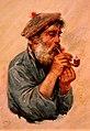 Бакст Лев. 1866-1924 Рыбак с курительной трубкой. 1890-е.jpg