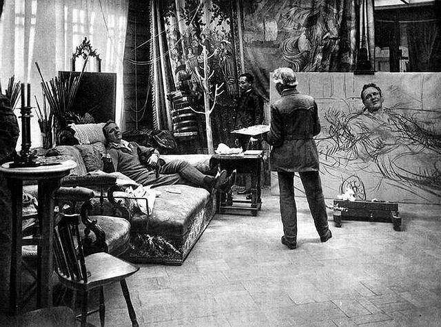 И.Е.Репин и Ф.И.Шаляпин. 1914 год.