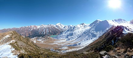 The mountainous region of the Tian Shan in south-eastern Kazakhstan Недалеко от пика - panoramio.jpg