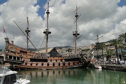 The galleon Neptune in the Old Harbour
