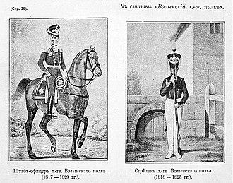 Volinsky Regiment - Image: Рисунки к статье «Волынский лейб гвардии полк». Военная энциклопедия Сытина (Санкт Петербург, 1911 1915)