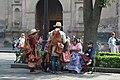 """""""Vendedores ambulantes de cuero en el centro de Coyoacán"""".jpg"""