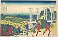 冨嶽三十六景 武州千住-Senju in Musashi Province (Bushū Senju), from the series Thirty-six Views of Mount Fuji (Fugaku sanjūrokkei) MET DP141087.jpg