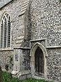 -2018-11-04 Buttress and Door on south elevation, Saint Giles, Bradfield, Norfolk.JPG