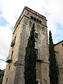 015 Sant Jeroni de la Murtra, pati, torre prioral.JPG