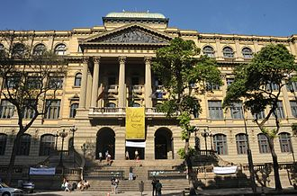 The National Library of Brazil,in Rio de Janeiro,the largest library in Latin America 0200 years Biblioteca Nacional in Rio de Janeiro city.jpg