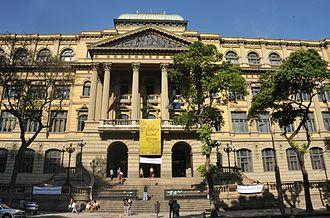 National Library of Brazil - Image: 0200 years Biblioteca Nacional in Rio de Janeiro city