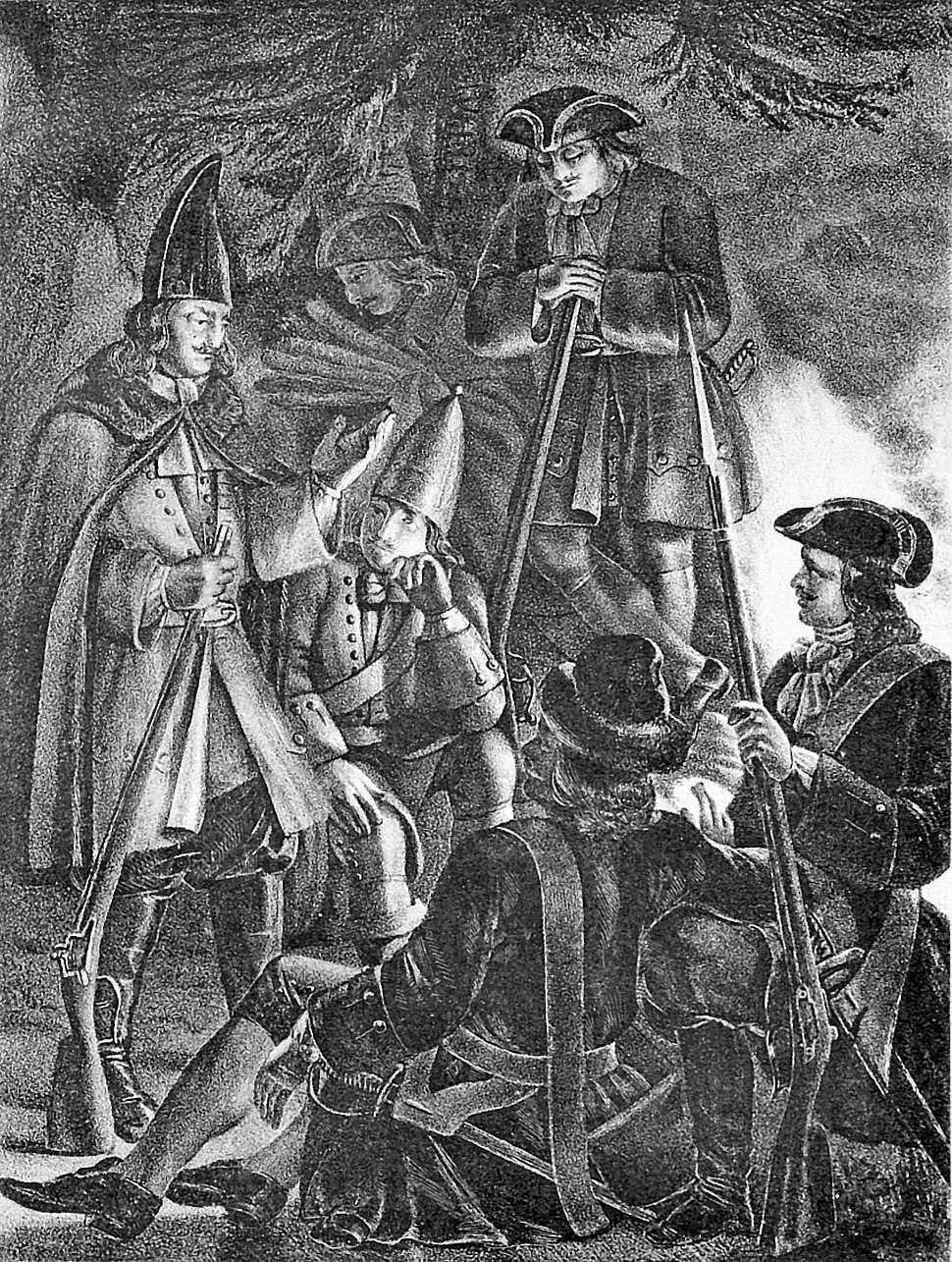 02 203 Book illustrations of Historical description of the clothes and weapons of Russian troops